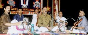 Vijay Siva in concert with R.K. Shriram Kumar (Violin), J. Vaidhyanathan (Mridangam) and B.S. Purushottam (Khanjira).