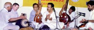 Vijay Siva in concert with maestros Palghat Raghu (Mridangam), Harishankar (Khanjira) and Mysore Manjunath (Violin).