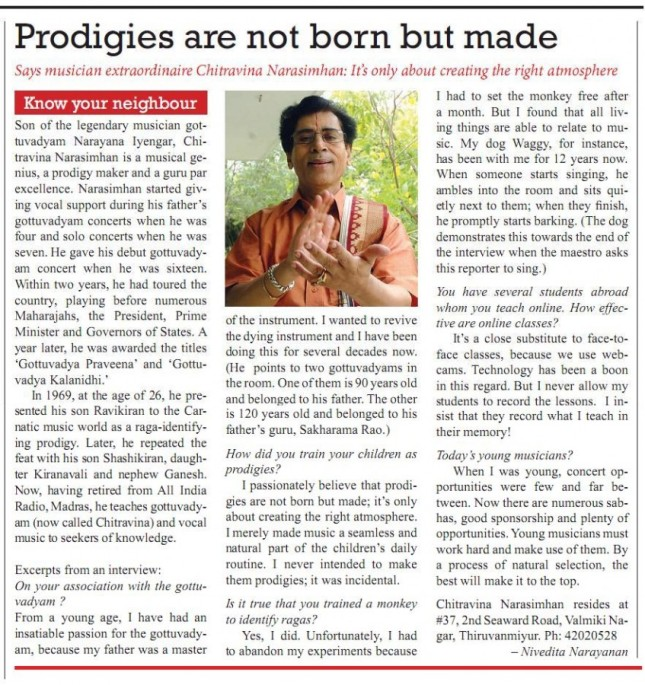 Prodigies are not born but made