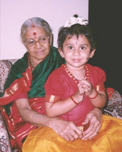 Aishwarya with Amma paati