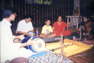 A young Keyboard Sathyanarayanan with his parents Smt. Lalitha and Shri Krishnababu