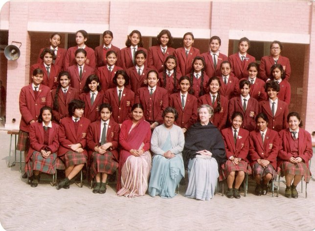 Class XII students of Loreto Convent, New Delhi. Spot Nanditha in the picture!