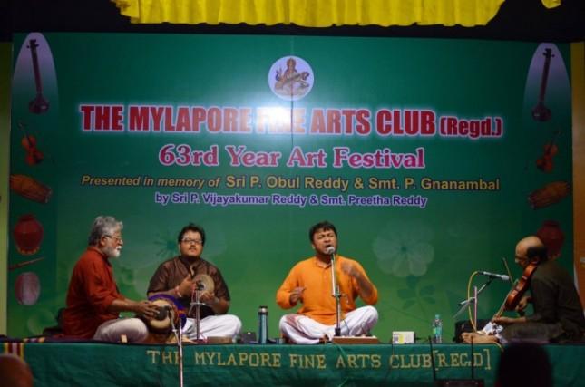 Akshay in concert with Shri V. Sanjeev, Shri Trichur Narendran and Shri Sundarkumar