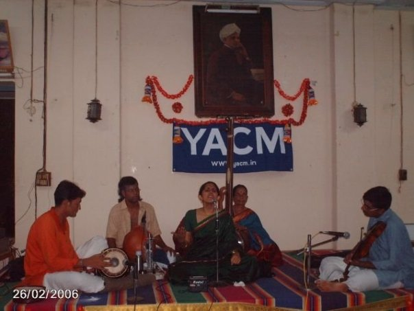 Amritha in concert for the Youth Association for Classical Music. Identify the other artists!