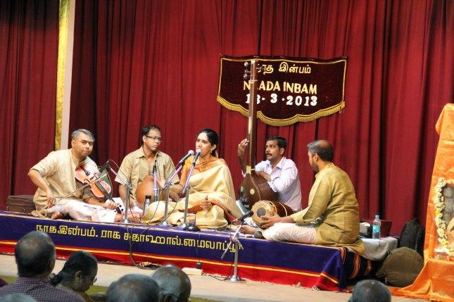 Amritha in concert with Shri R.K. Shriramkumar, Shri Arunprakash and Shri Guruprasad