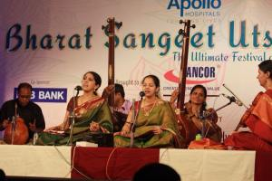 Amritha presents a duet concert with K. Gayathri at Bharat Sangeet Utsav 2015