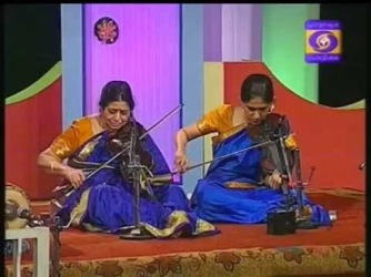 Amritha in concert with her guru Smt. T. Rukmini