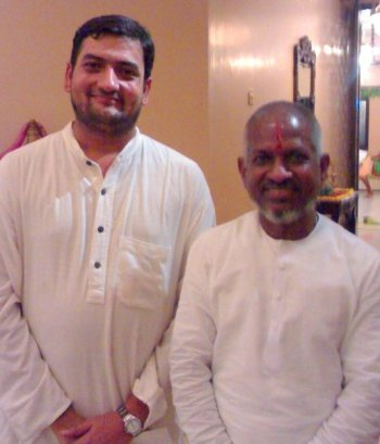 K.V. Gopalakrishnan with music director Ilaiyaraja