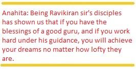 Anahita Ravikiran disciple