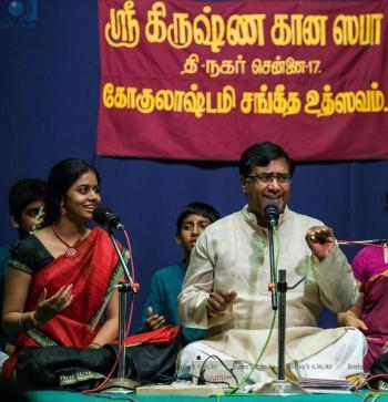Anahita in concert with her guru Shri Chitravina Ravikiran