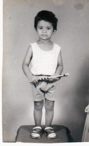 Two-year-old Jayanth with his flute (1994)