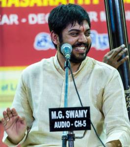 At a concert during the 2015 December Season. Photo courtesy: Smt. S.V. Hema